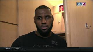 Download LeBron James offers thoughts on 'weird' game for Cleveland Cavaliers against the Clippers Video