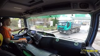 Download Mercedes Benz Actros 3343 transport clay - truck cab view Video