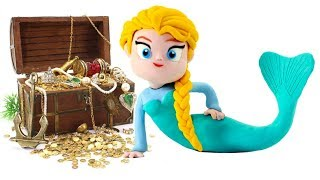 Download Frozen Elsa Mermaid & Princess Ariel The Little Mermaid Play Doh Cartoons Stop Motion Animations Video