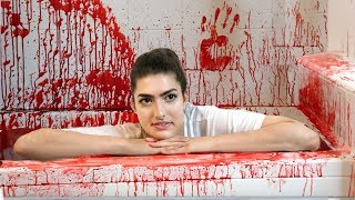 Download 50 Gallons Of Fake Blood in Bathtub! (Halloween Bath Challenge) Video