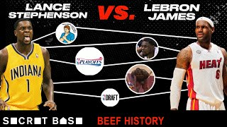 Download Lance Stephenson didn't follow in LeBron's footsteps, so he spent 6 years bugging him | Beef History Video