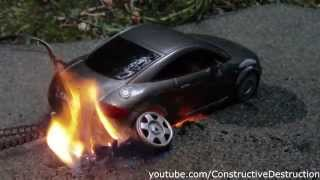 Download RC car burnout ends in flames Video