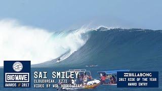 Download Sai Smiley at Cloudbreak - 2017 Billabong Ride of the Year Entry - WSL Big Wave Awards Video