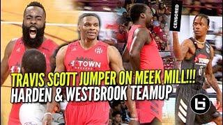 Download James Harden & Russell Westbrook TEAM UP VS Travis Scott & Demar Derozen! Video