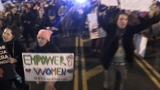 Download Raw: Washington DC Marches Continue Into Night Video