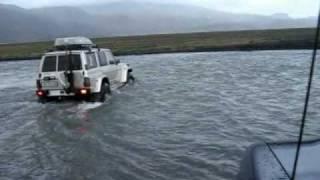 Download Thorsmork Iceland river crossing Video