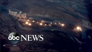 Download US led coalition drops explosives on ISIS in Iraq l ABC News Video
