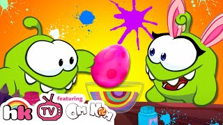 Download Om Nom & Om Nelle Painting Eggs | Cut The Rope | Best Cartoons for Children by HooplaKidz TV Video