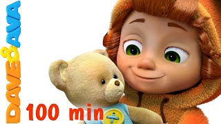 Download Teddy Bear, Teddy Bear, Turn Around | Nursery Rhymes for Kids and Children | Baby Song Dave and Ava Video