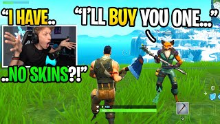 Download This 12 year old BOUGHT me my FIRST skin when I pretended to be a default skin... (emotional) Video