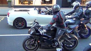 Download Superbikes and Supercars Loud Sounds in the City!! Video