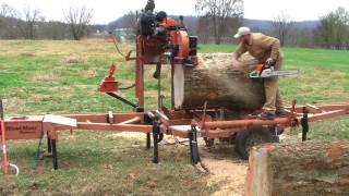 Download Don't tell my wife how I did this! Wood-Mizer sawing ″impossible″ HUGE Pecan log Video