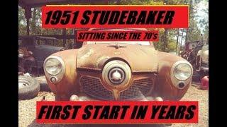 Download 1951 BULLET NOSE STUDEBAKER FIRST START SINCE 1970's Video