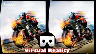 Download 3D VR High Speed Motorcycle Ride Virtual Reality Vídeo [Google Cardboard VR Box] 3D SBS Video