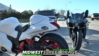 Download Kawasaki H2 vs Hayabusa | Street Race! Video