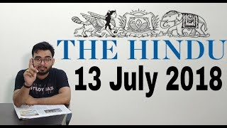 Download 13 JULY 2018 The Hindu Newspaper Analysis in Hindi (हिंदी में) - News Articles for Current Affairs Video