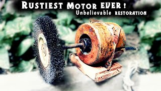 Download Rustiest Homemade Bench Grinder RESTORATION and MODIFICATION Video