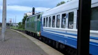 Download SU45-239 z pospiesznym D7 - odjazd z Braniewa Video