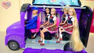 Download Monster High School Bus For Barbie doll& Disney Princesses Bus sekolah boneka Barbie Ônibus escolar Video