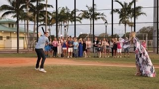 Download Watch Expecting Couple Discovers Their Baby's Gender While Hitting Baseball Video