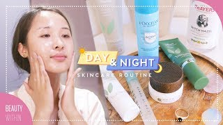 Download Day + Night Skincare Routine for Oily & Dry Skin Types | Get Clear Skin Video