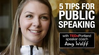 Download 5 public speaking tips from TEDxPortland speaker coach Video