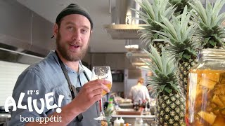 Download Brad Makes a Fermented Mexican Pineapple Drink (Tepache) | It's Alive | Bon Appétit Video