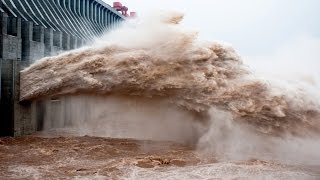 Download Emergency water discharges ¦¦ Dam water release ¦¦ Pressure ¦¦ Dam waterfall ¦¦ Crash Fails. Video