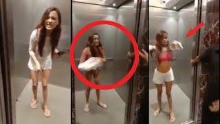 Download {Women Strips in Mumbai Elevator} Actress Megha Sharma Strips in lift in Lokhandwala || AAPKA NEWS Video
