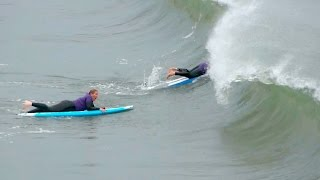 Download Surf Lesson Gone Wrong Surfing School Students Get Slammed by Waves Video