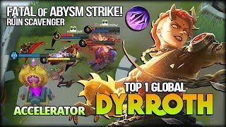 Download Ruins Scavenger 464 Match with 93.1% WR! ACCELERATOR Top 1 Global Dyrroth - Mobile Legends Video