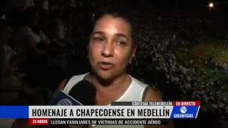 Download Emotivo homenaje en el Atanasio Girardot a víctimas del Chapecoense Video