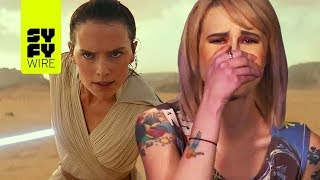Download SYFY WIRE Reacts To Star Wars: Episode IX - The Rise Of Skywalker Trailer | SYFY WIRE Video