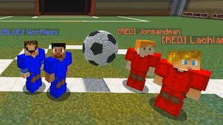 Download FOOTBALL IN MINECRAFT MINIGAME - 2v2 RED vs BLUE Soccer Video
