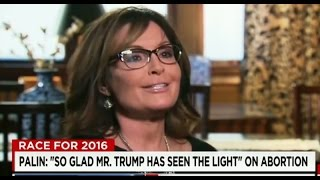 Download Reporter Visibly Confused as Sarah Palin Attempts to Explain Trump's Abortion Flip-Flop Video