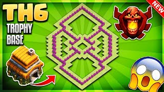 Download BRAND NEW BEST TOWN HALL 6 (TH6) TROPHY/DEFENCE BASE DESIGN 2018 - Clash Of Clans Video