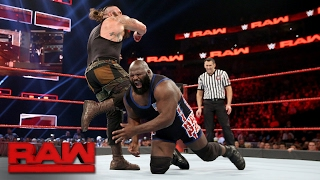 Download Mark Henry vs. Braun Strowman: Raw, Feb. 13, 2017 Video