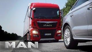 Download MAN EBA - emergency braking system. Video