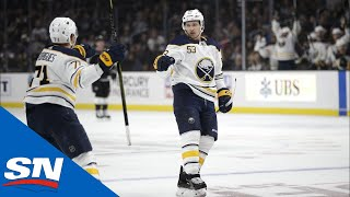 Download Jeff Skinner Records His Fifth Career Hat Trick And First With Buffalo Video
