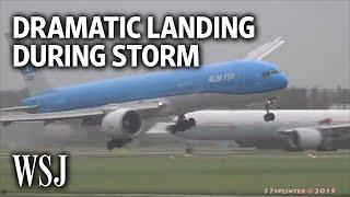 Download Dramatic Video Shows Plane Landing During Violent Storm Video