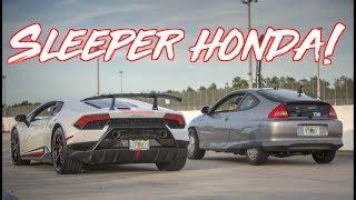 Download $7000 Sleeper Honda Hybrid Surprises Supercars! Lamborghini - GTR - Z06 Corvette Video