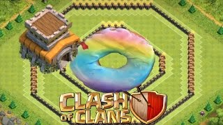 Download Clash Of Clans - TH 8 Epic Hybrid/Farming Base - Donut Base Video