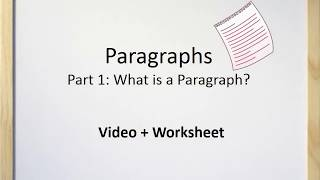 Download Paragraphs (Part I) - What is a Paragraph Video