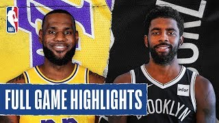 Download LAKERS at NETS | FULL GAME HIGHLIGHTS | January 23, 2020 Video