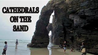 Download Playa de las Catedrales at Low Tide - Galicia, Spain Video