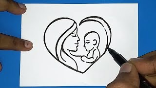 Download How to draw Mother's day drawing | women's day drawing | How to draw Parents day drawing Video