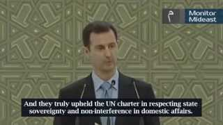 Download Syria President Al-Assad Thanks Hezbollah, Iran, China and Russia (English Subtitles) Video