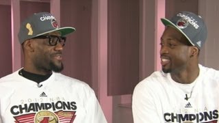Download LeBron James, Dwayne Wade and Chris Bosh ESPN Interview Clip: Big 3 Celebrate NBA Finals Win Video