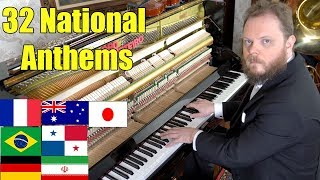 Download 32 National Anthems on Piano Video