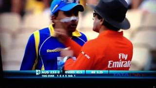 Download Mahela takes on the ICC umpires at the Adelaide Video